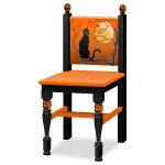 Hand Painted Halloween Chair