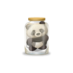 Panda Plushie in Jar