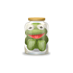Frog Plushie in Jar