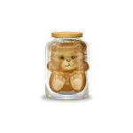 Teddy Plushie in Jar