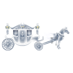 Ghost Carriage Hearse with Horse