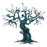Animated Monster Tree with Eyes