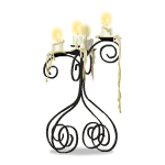 Dripping Wax Candelabra