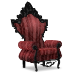 Angled Gothic Red Armchair