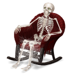 Animated Skeleton in Rocking Chair