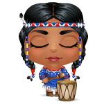 Indian Drummer Girl Mini Buddy