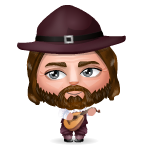 Animated Pilgrim Musician Mini Buddy