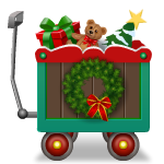Old Style Cart with Christmas Toys