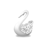 Frill Carved Swan Figurine