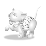 Frill Carved Cat Figurine