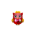 Romantic Valentine's Boy Owl