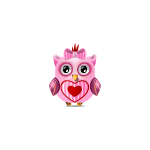 Affectionate Valentine's Girl Owl