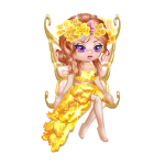 January Yellow Carnation Fairy Figurine