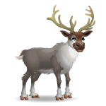 Animated Friendly Reindeer