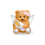 Handy Bear Angel with Harp