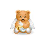 Handy Bear Angel with Horn