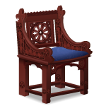 Angled Castle Wooden Chair