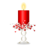 Red Candle In Candleholder