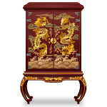 Chinese Song Dynasty Wardrobe with Dragons