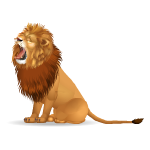 Animated Roaring Lion