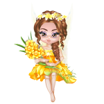 March Daffodil Fairy Figurine