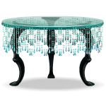 Table with Hanging Crystals