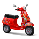 Scooter with Gypsy Design