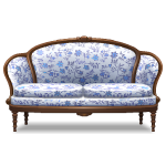 Blue Floral Pattern Sofa