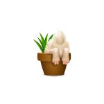 Animated Bunny in Pot