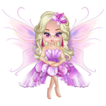 April Sweet Pea Fairy Figurine