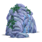 Animated Rock with Waterfall 2