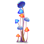 Fantasy Multi-color Mushrooms