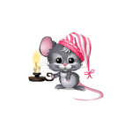 Bedtime Mouse with Candle Diamond Prize