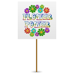 Flower Power Sign