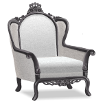 Angled White Victorian Armchair