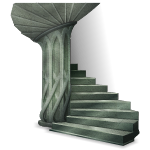 Gray Marble Spiral Stairs