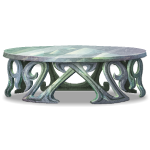 Gray Marble Oval Table