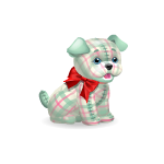 Blue Puppy with Red Bow Plushie Diamond Prize