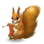 Knitting Squirrel