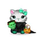 Halloween Trick or Treat Kitty