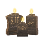 Tombstones with Candles
