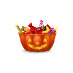 Jack'O Bowl with Candy
