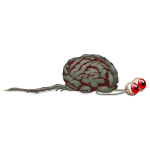Animated Creeping Brain with Eyes