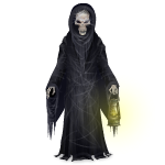 Gothic Skeleton Reaper with Lantern