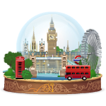 Giant London Snow Globe
