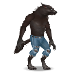 Animated Howling Werewolf