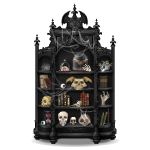 Black Creepy Curio Cabinet