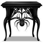 Gothic Side Table with Spider