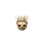 Old Skull with Straw