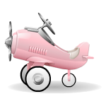 Pink Airplane Toy